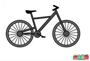自行车简笔画图片