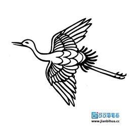 丹顶鹤简笔画法 2