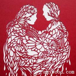 现代唯美剪纸艺术图片-剪纸艺术是民间文化的传承