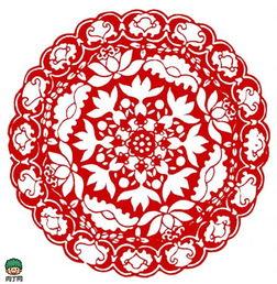 民间团花剪纸图案-创意生活,手-团花图案图片大全 团花纹样 传统图案...