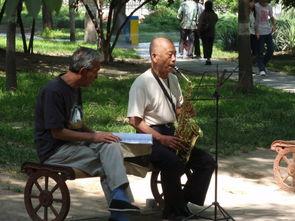 老根想丁香大喇叭曲是谁吹的-《五环舞》   太极   走进树影斑驳的小公园,随处可见老人们做着各种...