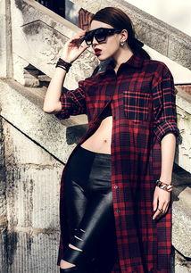 时尚劲爆街拍美女模特素材图片