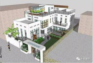 新中式两层半自建房设计图,老人房 微景观天台 庭院