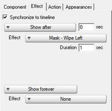 ...n Mask-wipe left effect as shown below:-Flash Kit, A Flash Developer ...