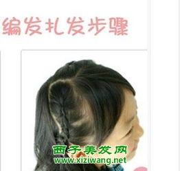 小孩辫子发型的花样扎法图解