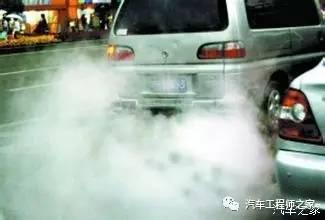 排气管排出黑色烟气时,一般是汽车发动机汽油燃烧过度,可能是很冷...