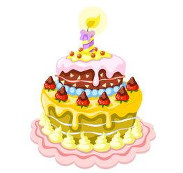 蛋糕矢量图 美味生日蛋糕矢量素材下载 素材之家