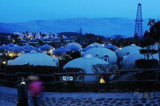 这里的黎明静悄悄 2012.3.15拂晓摄于日本九州阿苏大自然温泉农场馒...