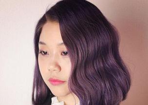 最流行的发型颜色 紫灰橘红亮眼吸睛