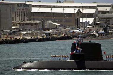 ...艇抵达珍珠港.美国国防部网站-美国组织军演针对中国 日韩潜艇模...