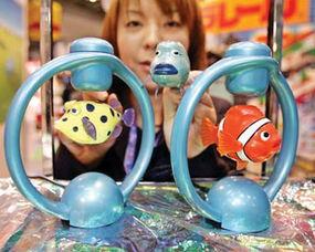 吧鱼鱼集百万潮流电-和控制装置,让鱼儿可以平衡地浮在圆环正中.玩具鱼将于4月发售,...
