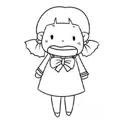 表情 简笔画人物图片 哭泣的小女孩 哭泣的小女孩简笔画人物简笔画 ...