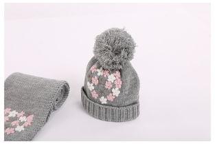...纯手工刺绣儿童帽子秋冬男童女童帽子保暖宝宝针织毛线帽冬潮