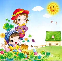 韩国卡通儿童插画图片