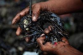 污一点的网名男生-一名男子用一块磁铁,在受污染的水收集到的材料中找到的金属-养家...