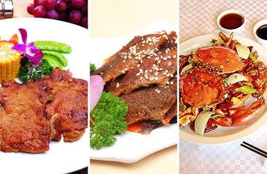 大虾沙拉,黑椒鸡肉沙拉,火龙果沙拉等,菜品丰富,你能想到的应有...