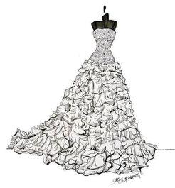 婚纱设计手稿-婚纱礼服设计-服装设计 (592x639)-手绘婚纱礼服设计...