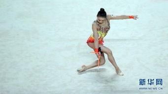 7月12日,孙妍在在棒操比赛中. 新华社记者   摄 图片来源:新华网 -...