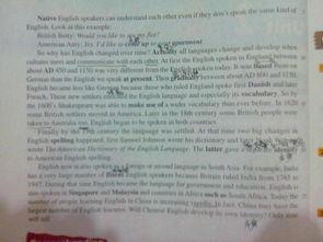 人教版高中英语必修1第二单元第一篇课文English around the world ,...