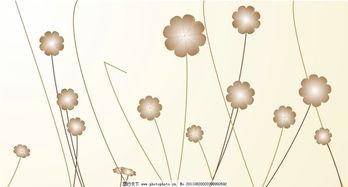 冷色花背景
