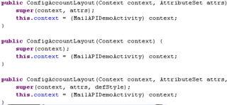 Layout.java文件中实现,它extends于RelativeLayout, 即它上面的组件...