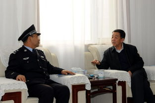 武德 杨梅喜同志接见忻州市基层老民警先进代表直属分局民警骆国泉