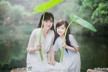 天使在人间 小仙女与小苹果美照走红