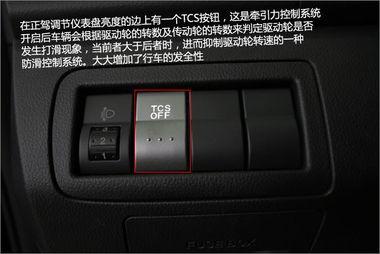 TCS牵引力控制系统在正驾左手边,设计在这里也是很方便的.CX-7...