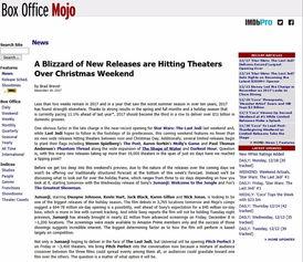 Box office Mojo预估票房-时隔23年翻拍两次 勇敢者游戏 怎么还能成功