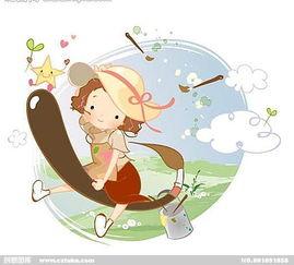 白云,青草地,嫩芽,插画,水墨... 卡通设计,动画设计,动