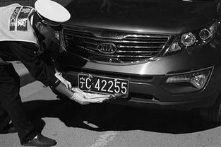 一齐挡-...警夜查酒驾发现一起遮挡号牌的行为-宁夏各地交警设卡查酒驾一律严...
