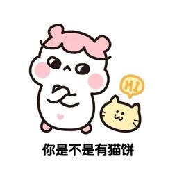 小猫卡通带字表情包