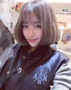 2017流行 齐刘海 短发