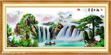 客厅山水画图片