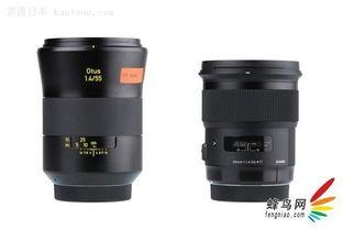 ...1.4(左)和适马50mm F1.4 DG HSM(右)正面外观对比-50mm左...