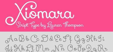 10款漂亮的手写艺术字体免费下载