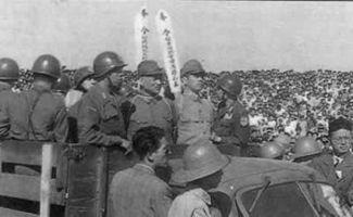 ...死刑的日本战犯被押赴刑场-1947年4月26日 南京大屠杀首恶谷寿夫被...