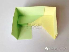 ...形盒子 正方形纸盒折法图解