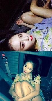 ...雅公开车内性感自拍迷你热裤露出修长美腿 诱惑红唇 韩国90后女星...