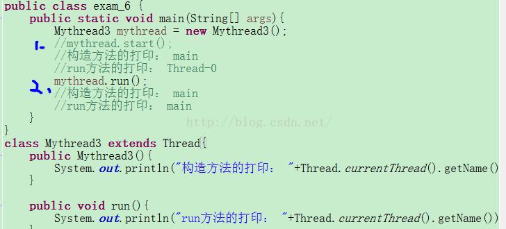 上,run()调用时,构造方法和run方法都是main线程调用,start()...