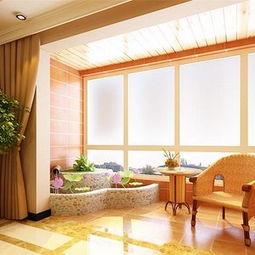中式风格三居室阳台吊顶效果图