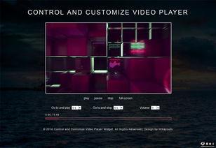 自定义控制视频播放器网页模板免费下载