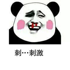 刺……刺激-表情 金馆长熊猫头脸红流鼻血表情 性感得我都流鼻血了 ...