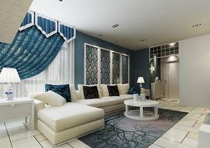 简约地中海风格客厅装修效果图
