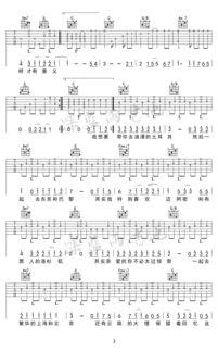 带你去旅行吉他谱 校长 C调弹唱谱 吉他教学视频