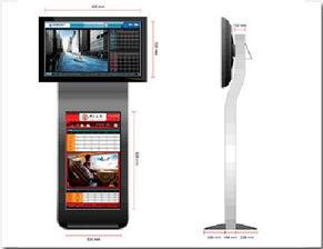 ...5寸高清液晶 广告机 双屏 广告机 立式 广告机