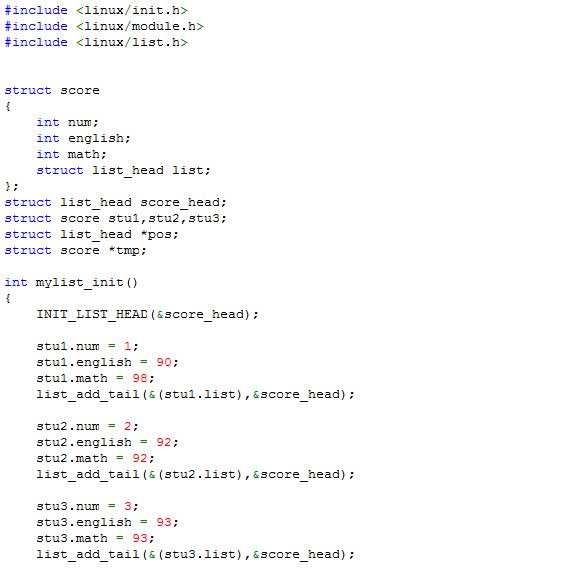 3.list_add_tail:在链表尾插入节点   4.list_del:删除节点   5.list_entry:...