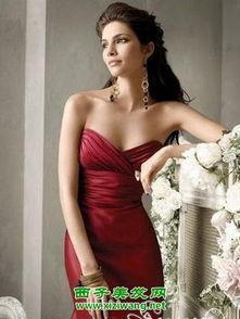 ...新娘抹胸小礼服图片推荐四,简约大气的缎面雪纺新娘抹胸小礼服,...