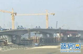 高集海堤开口改造道路桥主体完工 将在5月建成通车