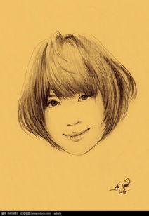 可爱短发少女素描画图片免费下载 编号6609683 红动网